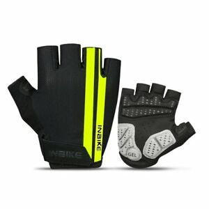INBIKE Cycling Gloves, Bike Gloves Mountain Road 5MM Pads Half Finger Reflective