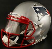 ***CUSTOM*** NEW ENGLAND PATRIOTS Full Size NFL Riddell SPEED Football Helmet