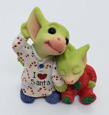 Pocket Dragon - Listening for Santa - Mint w/ Orig Box - No Metal Tag/Ornament