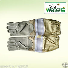 Long Sleeve Goatskin Mesh Bee Gloves Beekeeping Working Gloves Beekeeping Tool