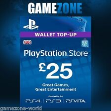 PlayStation Network PSN £25 GBP - 25 Pounds Store Card Key - PS4 PS3 PSP – UK