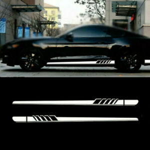 Car Side Skirt Racing Stripes Vinyl Body Decal Sticker For Benz C Class W205