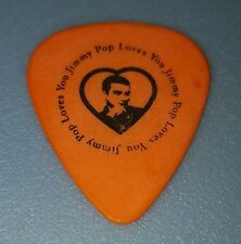 THE BLOODHOUND GANG - JIMMY POP - STAGE USED guitar pick (Orange)