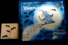 2004 Rare Stampin Up rubber stamp - Halloween Batty for you Bitty bitties