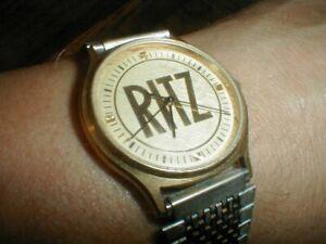 Vintage NABISCO Biscuit Retired Employee RITZ Cracker Commemorative Wrist Watch