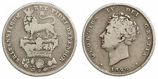 INGHILTERRA GREAT BRITAIN 1 SHILLING 1826 KM#694  ARGENTO SILVER #7214A