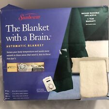 Sunbeam Green Blanket With A Brain Warming Automatic Twin 60 x 84 NEW & SEALED