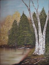 oil painting, autumn trees