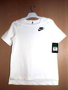 Nike Girls Shirt Size XL Sportswear Tech Fleece White 830721 100