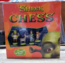 DreamWorks Shrek Chess Hand Painted  Pieces, 2004 Collector Ed. Board
