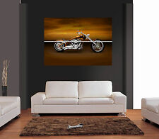 CUSTOM ORANGE HARLEY DAVIDSON Giant Wall Art Print Picture Poster