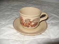 C4 Pottery Kiln Craft Floral Cup & Saucer 14x8cm 2F4C