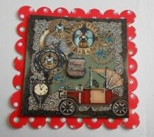 PK 2 MALE STEAMPUNK HAPPY BIRTH DAY EMBELLISHMENT TOPPERS FOR CARDS AND CRAFTS