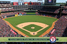 TEXAS RANGERS - GLOBE LIFE PARK POSTER - 22x34 MLB BASEBALL STADIUM 13493