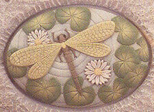Ceramic Bisque Ready to Paint Dragonfly  insert ~FREE SHIPPING in USA