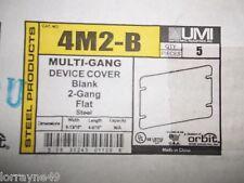 Orbit 4M2-B 2 Gang Switch Box Cover Blank