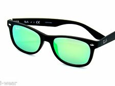 RAY BAN kids sunglasses RJ 9052S MATTE BLACK/GREEN MIRROR 100S3R JR 9052