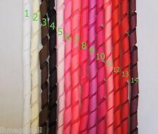 5 Pieces ~~10mm KORKER Grosgrain Ribbon 15 Colours U PICK - White Black Pink Red