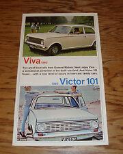 Original 1965 Vauxhall Viva & Victor 101 Sales Brochure 65 Canadian