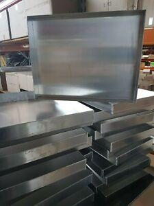 Aluminium 4 Sided Baking Tray 460Wx350Dx50mmH