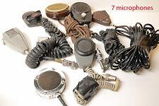 MICROPHONES de table -  LOT DE 7 MICROS   -  RARE & COLLECTOR