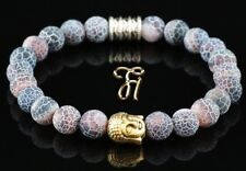 Agate Red Colourful Bracelet Pearl Bracelet Buddha Head Gold 0 5/16in