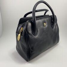 ETIENNE AIGNER Genuine Leather Classic Black Purse Handbag