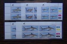 Ciskei 1983 Sharks set in blocks x 4 MNH FISH