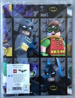 LEGO BATMAN WRAPPING PAPER by HALLMARK 2 GIFT WRAP& 2 TAGS PACK - BIRTHDAY