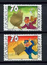 Liechtenstein 2001 SG # 1241-2 salutation cachets utilisés set #a 3372
