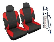 6 PCE Paddington Black/Red Front Car Seat Covers For Ford Fiesta Focus Mondeo KA