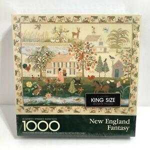 Hallmark Springbok 1000 Piece Jigsaw Puzzle New England Fantasy 24x30 NEW Sealed
