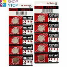 10 MAXELL CR1616 LITHIUM BATTERIES 3V COIN CELL DL1616 ECR1616 EXP 2023 NEW