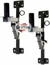 PA Speaker Wall Mount Brackets - 2 Pro-Audio Stands Post Holder DJ Stage Griffin