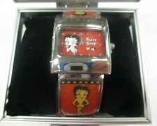 -NEW- CENTRIC BETTY BOOP RECTANGULAR FACE SMALL ADULT MOVING HAND BRACELET WATCH