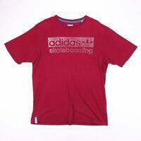 Vintage ADIDAS SKATEBOARDING Burgundy Sports T-Shirt Size Men's XL