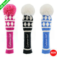 Golf Driver Pom Pom Headcover Head Covers Set for Callaway Knit Headcovers New