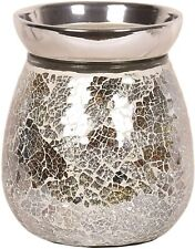 Aromatize Gold & Silver Crackle Electric Wax Melt Burner (AR1039)