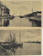Nieuwpoort 2 postkaarten Aux bords de l'Yser - Les quais