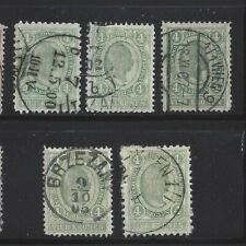 Austria 1899 4 Kr, Scott 85 VF Used x 5, SCV $90
