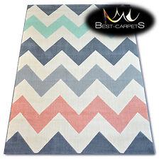 TRENDY Thick Carpets STYLISH MODERN RUG 'SCANDI' ZIG ZAG CHEAP Best-Carpets