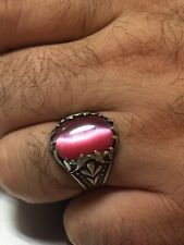 Silver ring 925 men with natural stone (Cat's Eye)