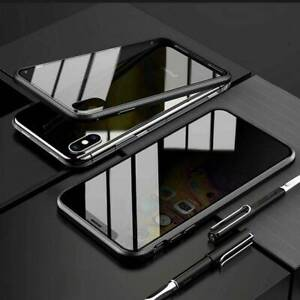 Anti Spy Tempered Glass Privacy 360 Magnetic Case Cover For iPhone 11 Pro Max XS