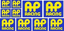 10 ADESIVI AP RACING MOTO AUTO STICKERS PINZE FRENO A COLORI SPONSOR COD48