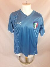 Men's PUMA Italia Blue Jersey Short Sleeved Shirt - Size Not Provided