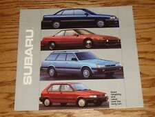 Original 1990 Subaru Full Line Sales Brochure 90 XT Legacy Loyale Justy