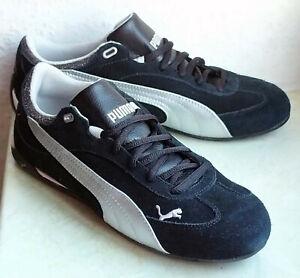 PUMA Sportlifestyle Schuhe Sneaker Gr.38 SCHWARZ SILBER ECHTES WILDLEDER NEU