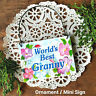 DecoWords Mini Wood Gift Sign Plaque Worlds Best GRANNY Ornament  Family USA