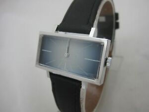 NOS NEW SWISS MECHANICAL HAND WINDING STAINLESS ST ANALOG VINTAGE WATCH 1960'S