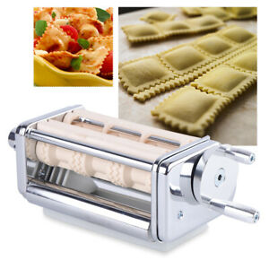 Ravioli Maker Attachment Stainless Steel for KitchenAid Stand Mixer Silver USA